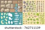 vector set. summer vacation.... | Shutterstock .eps vector #762711139