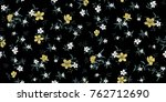 seamless floral pattern in... | Shutterstock .eps vector #762712690