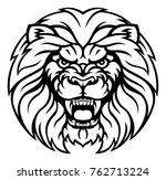 an angry lion sports animal... | Shutterstock .eps vector #762713224