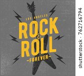 cool rock and roll typography ...   Shutterstock .eps vector #762716794