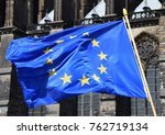 European Flag In Front Of...