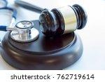 gavel and stethoscope. medical...   Shutterstock . vector #762719614