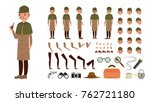 detective. animated tech... | Shutterstock . vector #762721180
