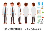 scientist character. friendly... | Shutterstock . vector #762721198