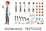 scientist man. animated... | Shutterstock . vector #762721210