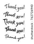 thank you card. hand drawn... | Shutterstock .eps vector #762726940