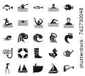 aqua icons set. simple set of... | Shutterstock .eps vector #762730048