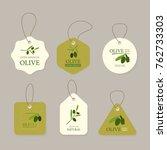 set of olive banner labels. | Shutterstock .eps vector #762733303