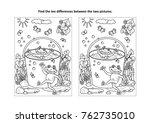 summer joy themed find the ten... | Shutterstock .eps vector #762735010