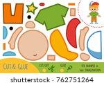 education paper game for... | Shutterstock .eps vector #762751264