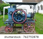 old steam machinery on the yard | Shutterstock . vector #762752878