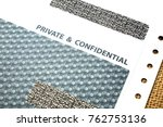private and confidential...   Shutterstock . vector #762753136