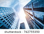 the skyscraper is in qingdao ... | Shutterstock . vector #762755350