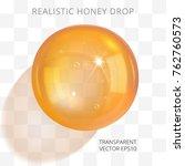 Orange Brown Transparent Drop...