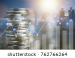 finance  capital banking and... | Shutterstock . vector #762766264