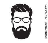 bearded man's face  hipster... | Shutterstock .eps vector #762766594