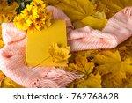 book  bouquet of chrysanthemums ... | Shutterstock . vector #762768628