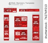 web banners of happy new year... | Shutterstock .eps vector #762769213