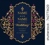wedding invitation card... | Shutterstock .eps vector #762773620