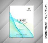 abstract modern wavy business... | Shutterstock .eps vector #762775024
