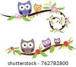 owl cute in vector | Shutterstock .eps vector #762782800