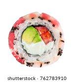 roll with tuna  scallop ... | Shutterstock . vector #762783910