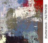 oil painting on canvas handmade.... | Shutterstock . vector #762784258