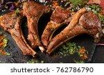 soft rack of lamb gourmet dish. ... | Shutterstock . vector #762786790