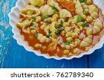 mama mia's minestrone  soup  ...   Shutterstock . vector #762789340