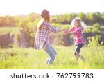 sister girls having fun in the... | Shutterstock . vector #762799783