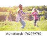 sister girls having fun in the... | Shutterstock . vector #762799783