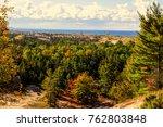 lake michigan sand dune... | Shutterstock . vector #762803848