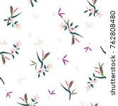 trendy  floral pattern in the... | Shutterstock .eps vector #762808480