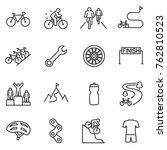 bicycle riding icon set.... | Shutterstock .eps vector #762810523