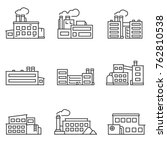 factory icons set thin line... | Shutterstock .eps vector #762810538