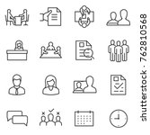 job interview icon set. linear... | Shutterstock .eps vector #762810568