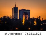 dusk over the church of the...   Shutterstock . vector #762811828