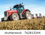 close up of tractor machine in... | Shutterstock . vector #762813244
