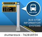 bus stop real time information... | Shutterstock .eps vector #762818554