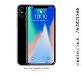 smartphone in iphone style... | Shutterstock .eps vector #762821368