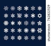snowflake clipart vector | Shutterstock .eps vector #762822529