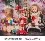 child room with lot of old... | Shutterstock . vector #762822949