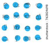 vector illustration of 16... | Shutterstock .eps vector #762824698