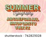 summer typography design vector | Shutterstock .eps vector #762825028