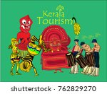 kerala tourism vector... | Shutterstock .eps vector #762829270