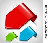 vector arrow stickers set.... | Shutterstock .eps vector #76283248