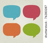 retro speech bubbles set vector ... | Shutterstock .eps vector #76283287