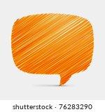 hand draw speech bubble vector... | Shutterstock .eps vector #76283290