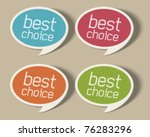 retro speech bubbles set with... | Shutterstock .eps vector #76283296