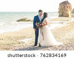 wedding couple. beautiful bride ... | Shutterstock . vector #762834169
